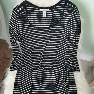 White House Black Market Striped Top